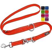 DDOXX Guinzaglio per Cani Nylon Riflettente, Regolabile con 3 Misure, 2 m | Tanti Colori e Taglie | Guinzaglio Doppio…