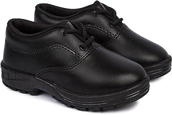 Feet Essentials Boy's Black Lace up School Shoe