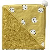 VERTBAUDET Cape de bain Panda Oeko-Tex® jaune curry 80X80