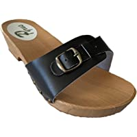 GreenPyrus S1 Leather Slip-on Womens Sandals Mule Clogs Slippers Sabot Shoes