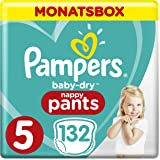 Pampers Baby-Dry Pants, Gr. 5, 12-17 kg, Monatsbox, 1er Pack (1 x 132 Stück)