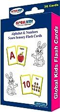 Neuro Sensory Colour Flash Card: Alphabet & Numbers For Tiny Tots
