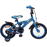 Amigo BMX Turbo - Kinderfiets 14 inch - Voor jongens van 3 tot 4 jaar - Met V-brake, terugtraprem, fietsbel en zijwieltjes -