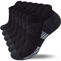 Lapulas Running Socks, 6 Pairs Cushioned Anti-Blister Trainer Socks Sports Socks Walking Socks Cotton Ankle Socks for…