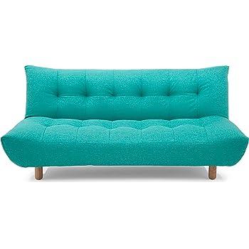 Urban Ladder Palermo Fold Out Three Seater Fabric Sofa cum Bed (Blue)