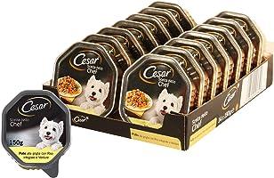 Cesar Scelta dello Chef Cibo per Cane, Pollo alla Griglia con Riso Integrale e Verdure 150 g - 14 Vaschette