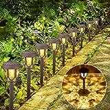 Vivibel [10 sztuk] Ogrodowa lampa solarna ogrodowa lampa zewnętrzna wodoszczelna LED światło ciepłe białe dekoracyjne lampa s