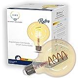 tint van Müller-Licht Smart Retro LED-lamp E27, Globe Gold, wit + ambiance (witte tinten 1800-6500 K), dimbaar, 5,5 W, Zigbee