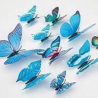 LUTER 24pcs 3D Papillon Stickers Muraux 4 Tailles Papillon Stickers Muraux Amovible Stickers Muraux Muraux Art Décor…