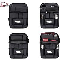 Autofurnish 3D Car Auto Seat Back Multi Pocket Storage Bag Organizer with Car Meal Tray
