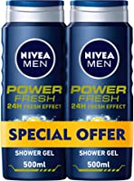 NIVEA MEN, Shower Gel, Power Fresh, 2 x 500 ml