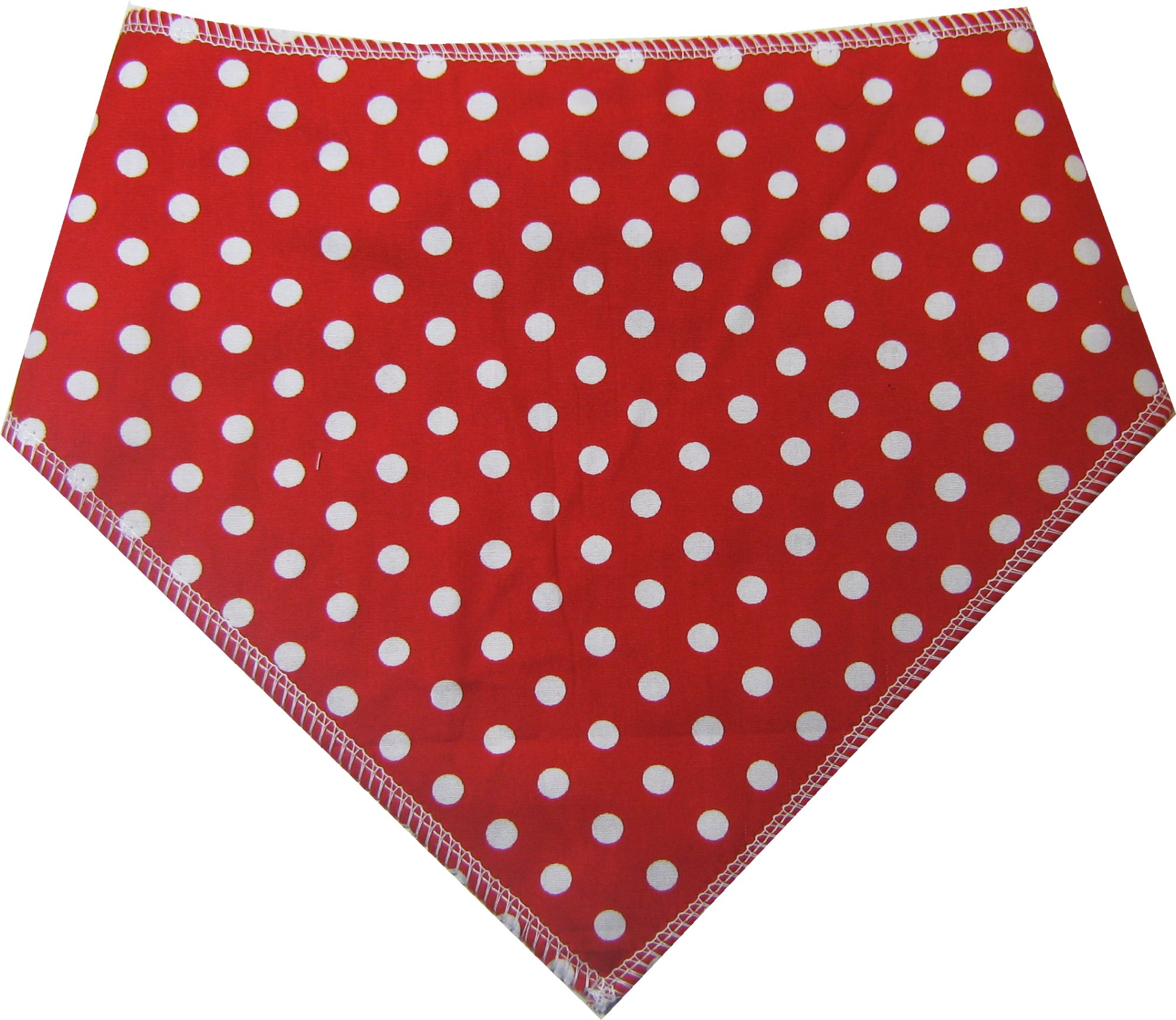 Spoilt Rotten Pets (S4 Vintage Style RED Polka Dot Dog Bandana. Large Size Generally Fits Rottweilers and St Bernard Sized Dogs. Neck Size 23″ to 28″ Gorgeous Range of Patterns & Colours.