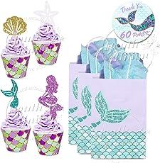 Youth Union Meerjungfrau Kuchendekoration Glitter Cupcake Toppers Und  Wrappers Verpackung Für Kinder Party Kuchen Dekoration Geburtstag