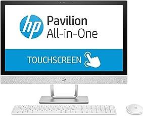 HP Pavilion 24-r160ng (Touchdisplay 23,8 Zoll / Full HD) All in One PC (Intel Core i7-8700T, 1TB HDD, 256GB SSD NVMe, 16GB DDR4 (2x 8GB), AMD Radeon 530 2GB, Windows 10) weiß