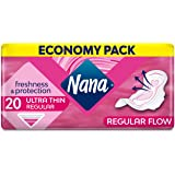 Nana Ultra Normal Sanitary Pads With Wings, 20 Count