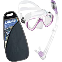 Cressi Ranger Schnorchelset - Schnorcheln Set mit Schnorchel und Taucherbrille, wasserdichte Tauchmaske Anti-Fog Anti…