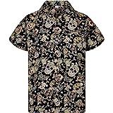 Original King Kameha | Funky Camisa Hawaiana Señores | XS-12XL |Manga Corta Bolsillo Delantero | impresión De Hawaii| Skull