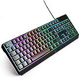 iProGaming Tastatur Gamer QWERTZ mit USB Kabel - Bunte LED Regenbogen Beleuchtung - für PC Windows, Mac, PS4 - Neuauflage - 2019er Version - Gaming auf höchstem Niveau