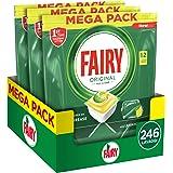 Fairy Original Plus Allin1 Pastiglie Lavastoviglie, 246 Cicli, 3 x 82 Capsule, Detersivo al Limone, Maxi Formato, Rimuove il
