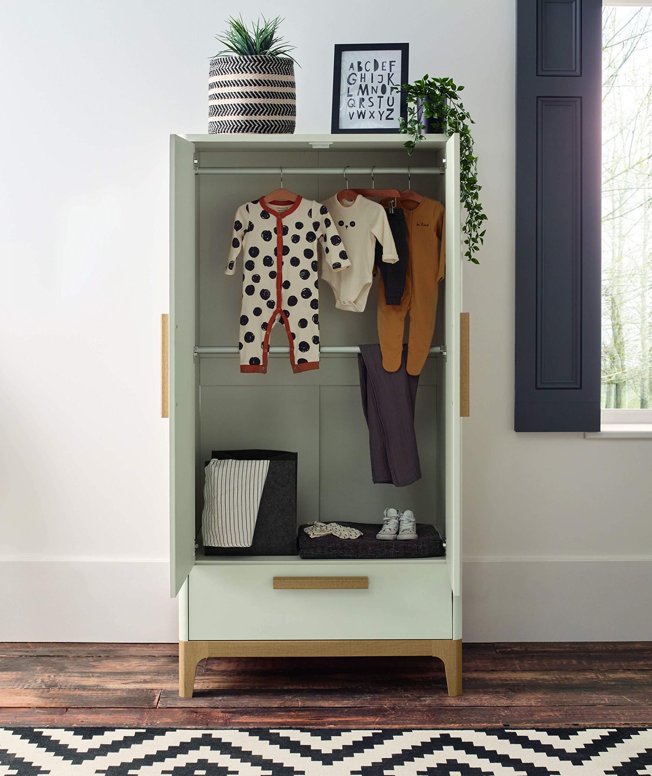 Mamas & Papas Nursery Furniture Caprio Wardrobe White/Natural Mamas & Papas  2