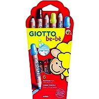 GIOTTO 466400 BEBE SUPER LARGE PENCILS 6 BOX, 17.5 x 16.6 x 2 cm