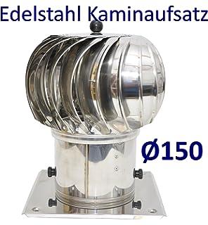Drehbar Schornsteinabdeckung Edelstahl Schornsteinhaube Kaminaufsatz 200mm