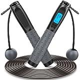 Corda per Saltare, Professionale Corda Crossfit con Silicone Antiscivolo Maniglia e Cuscinetti a Sfera, Aggiornata Jump Rope