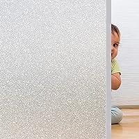 Rwest X Fensterfolie Selbsthaftend Blickdicht Sichtschutzfolie Fenster Milchglasfolie Statische Fensterfolien Anti-UV…