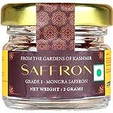 Malikaz' The Royale Taste Kashmir Saffron (Grade A) | Kesar/ Zaffran/ Jafran | Bottle, 2 g