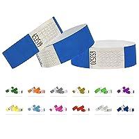Bracelets d'identification Tyvek 19 mm, 500 pièces, Neon Blue - Bleu, Bracelets événementiels
