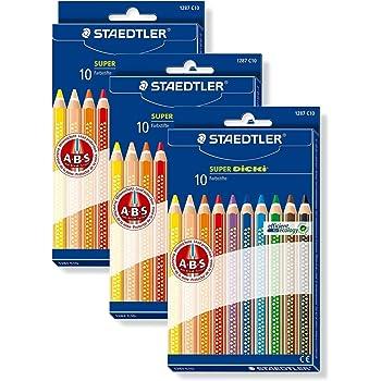 3er Pack Staedtler 1287 C10 - Super Dicki Farbstift, 6 mm, 10 Stück Etui (3)