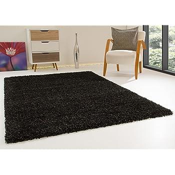 Shaggy Hochflor Teppich Funny Langflor Teppich in rot mit /Öko-Tex Siegel Gr/ö/ße 80x150 cm