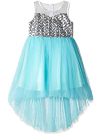 Girls Dress Sequin Mesh Party Wedding Princess Tulle 7-14 Years 39cbff07ada9