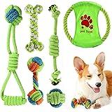 ACE2ACE Giochi per Cani, 6 pezzi Cane Resistenti Giochi di Giocattoli da Masticare per Cani di Piccola Taglia e Cuccioli, 100