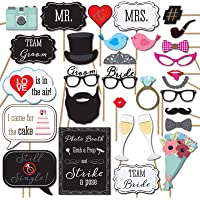 Party Propz Bride to Be Props 31 PCs/ Wedding Photobooth Props/ Spinster Photo Props