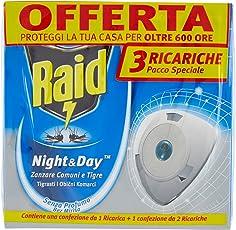 Raid Night & Day Zanzare Tripla Ricarica - Pacco da 3