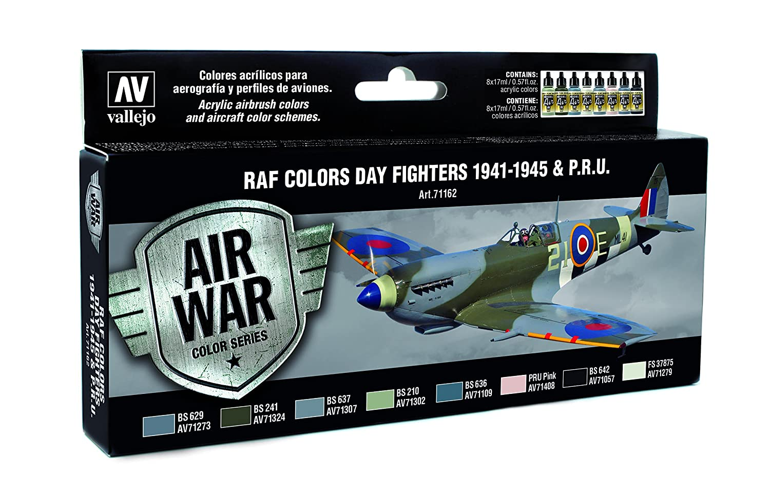 Vallejo model air wwii raf day fighters acrylic paint kit for vallejo model air wwii raf day fighters acrylic paint kit for air brush assorted colours pack of 8 acrylicos vallejo amazon office products nvjuhfo Choice Image