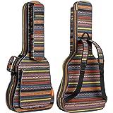 CAHAYA Étui à guitare bohème Étui à guitare vintage Étui à guitare rembourré en éponge de 15,5 mm d'épaisseur pour 40 41 41 4