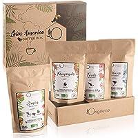 ☘️ BIO Kaffeebohnen Probierset 1kg | Premium Arabica Kaffee Ganze Bohnen Set 4x250g | Traditionelle Röstung | Säurearm…