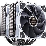 Gelid Solutions Phantom Black - Disipador térmico de Torre Doble con 2 Ventiladores PWM - Posibilidad de Agregar 1 más - Comp