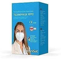 TechniSat TECHNIMASK FFP2 Maske - CE-Zertifiziert (Mund- und Nasen-Bedeckung, dermatologisch getestet, 5-lagige Einweg…