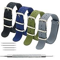 Bracelet de Montre 4/8 Paquet Bracelet NATO 16mm 18mm 20mm 22mm 24mm Bandes en Nylon Balistique Suisse Zulu Bracelet…