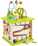 Hape E1810 Country Critters Play Cube - Multi-Sided Wooden Activity Toy