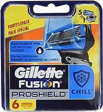 Gillette Fusion ProShield Chill Rasierklingen für Männer, 6Stück