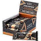 Marchio Amazon- Amfit Nutrition Barretta proteica a basso contenuto di zuccheri (19,6gr proteine - 1,6gr zucchero) - caramell