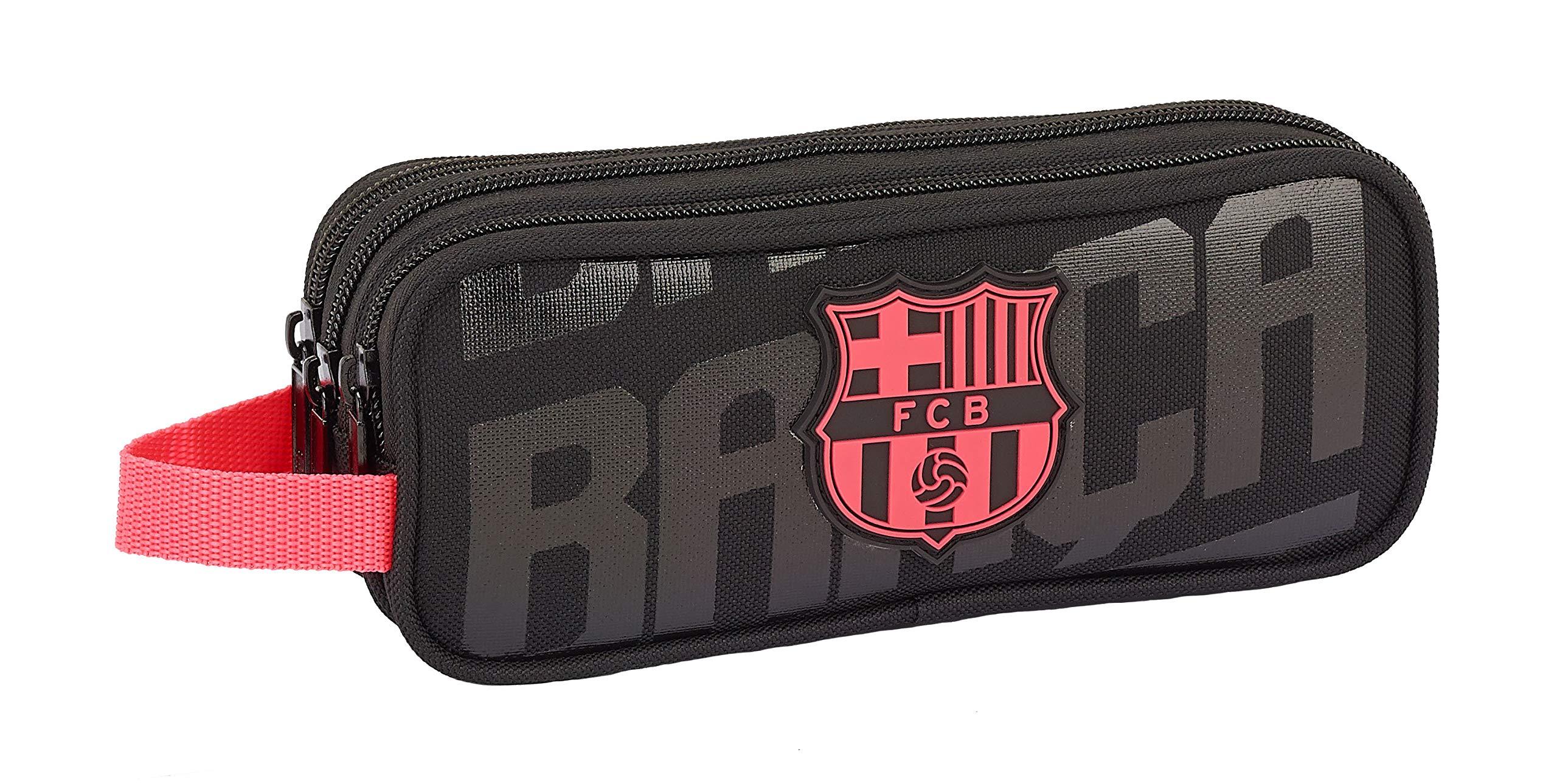 FCB FC Barcelona portatodo Triple f.c.Barcelona Black 21×8,5×7 Color Negro 21 cm 811927635.