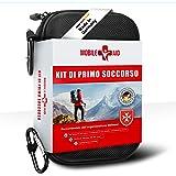 Kit di primo soccorso Mobile Aid da viaggio - Conforme a DIN 13167 e prodotto in Germania - 30 pz. Kit di primo soccorso + ma