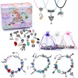 Girls Charm Bracelet Making Kit-DIY Jewellery Making Kit for Kids, Craft Sets for Girls Ages 8-12 Party Favor Jewellry…