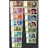*** 5,10,20,50,100,200,500,1000 DM Geldscheine 1980,1991 - 2 Sätze - Pick 30 - 44 - Reproduktion ***