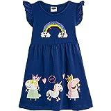 Peppa Pig Vestido para Niñas Verano | Conjunto Infantil Rosa Sin Mangas | Vestidos Niña Verano Algodón | Vestido con Arco Iri